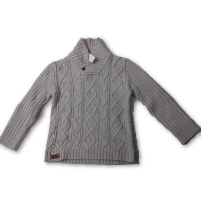 134-140-es drapp kötött pulóver - George