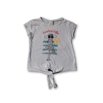 128-as fehér flitteres lányos póló