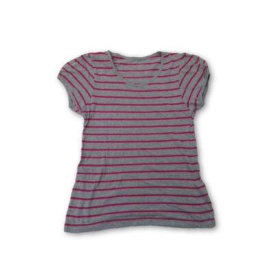 152-es szürke-pink csíkos póló - Ypung Dimension