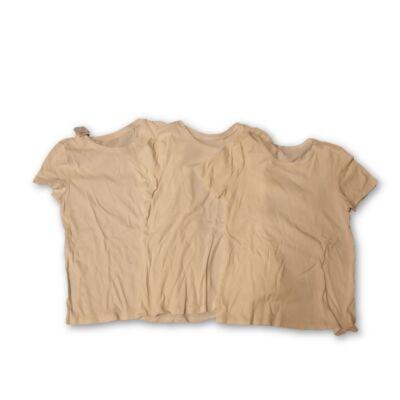 146-152-es fehér unisex pólók, 3 db egyben - C&A