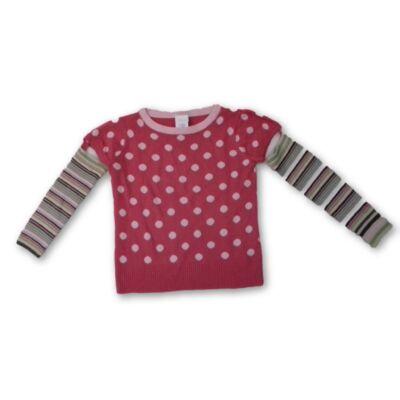 140-es rózsaszín pöttyös kötött pulóver - Next