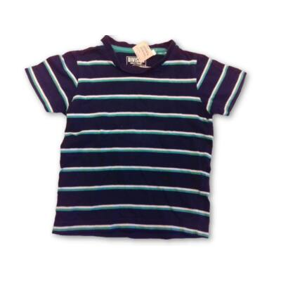 98-as fekete-zöld csíkos póló - C&A