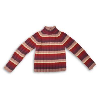 152-es rózsaszín csíkos kötött pulóver