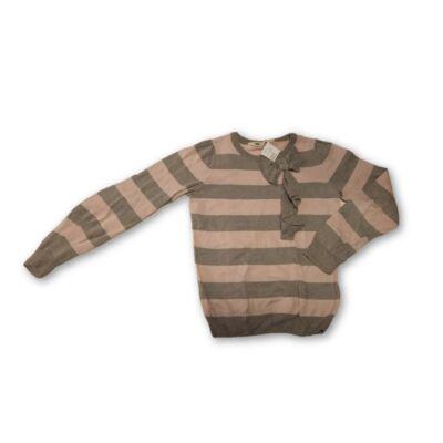 122-es szürke-rózsaszín csíkos vékonyabb pulóver - H&M