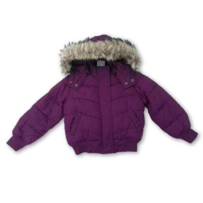 92-es lila szőrmés télikabát - H&M