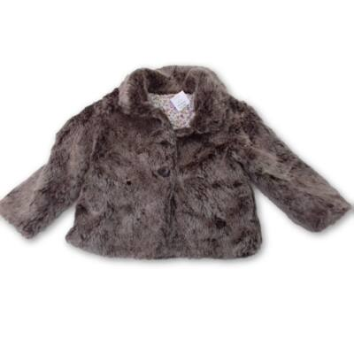 92-es barna szőrmés átmeneti kabát - F&F