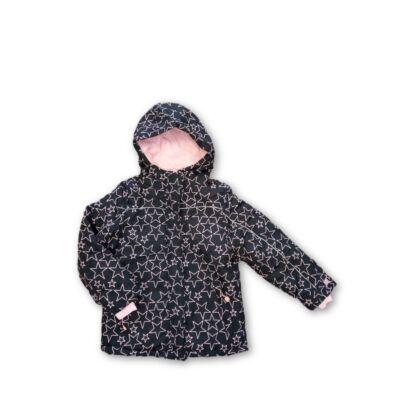 140-es fekete-rózsaszín csillagos téli dzseki - Pepco - ÚJ