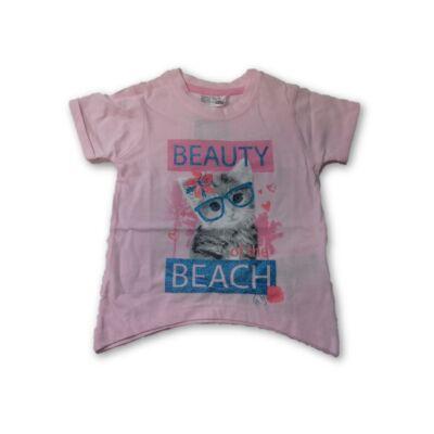 74-es rózsaszín cicás póló - Ergee - ÚJ