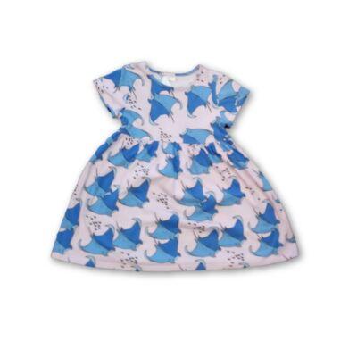 110-es rózsaszín ruha kék rájákkal, halakkal - Next