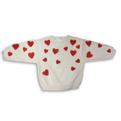 110-es fehér kötött szivecskés pulóver - Zara