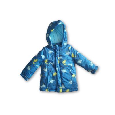 80-as kék dínós kabát - Pepco - ÚJ