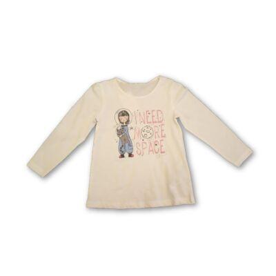 110-es fehér kislányos pamutfelső - Kiki & Koko - ÚJ