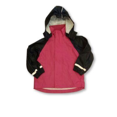 110-116-os pink-fekete esőkabát - Kaxs