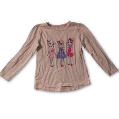 110-116-os fehér lányos pamutfelső - Lupilu