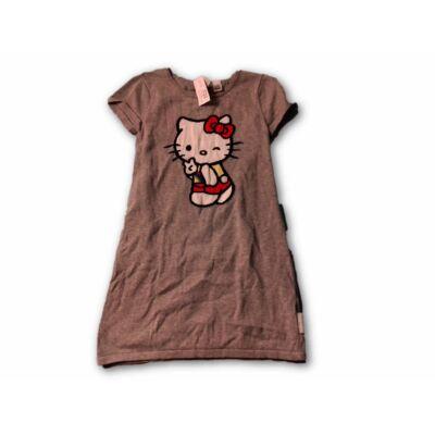 122-128-as szürke kötött ruha - Hello Kitty