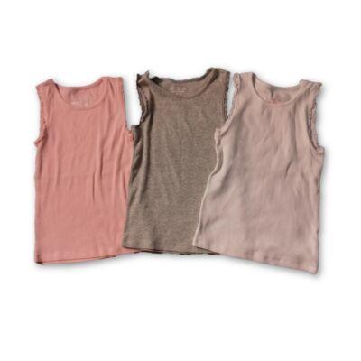 122-es bordás lányka trikók, 3 db egyben - F&F
