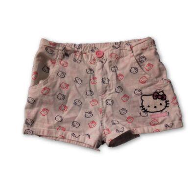 122-es fehér vászon short - Hello Kitty