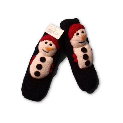 32-34-es kötött hóemberes talpas zokni