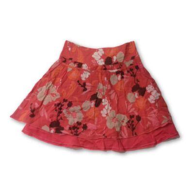140-es piros virágos szoknya