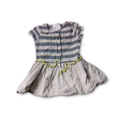 98-as drapp-szürke csíkos ruha - Zara