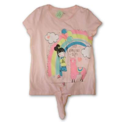 116-os rózsaszín lufis-kislányos póló - Pepco