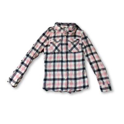 164-es rózsaszín-fekete flanel blúz - Primark