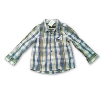 80-as kék-khaki kockás hosszú ujjú ing - In Extenso