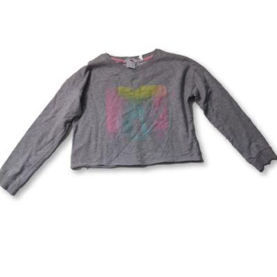 158-164-es szürke feliratos rövidállású pulóver - H&M