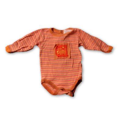 62-68-as narancssárga csíkos hosszú ujjú body - Scamp