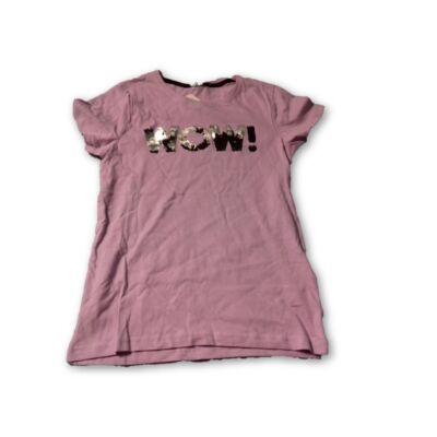 134-140-es lila átfordítható flitteres feliratos póló - Y.F.K - ÚJ