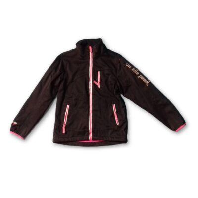 134-140-esfekete-rózsaszín softshell kabát - On the Peak