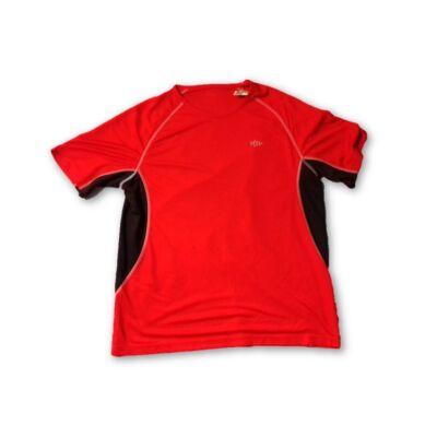Férfi M-es piros-fekete focimez