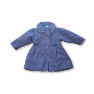 98-as kékeslila szövet kislány kabát