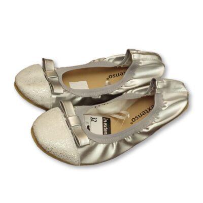 32-es ezüst alkalmi balerina cipő - In Extenso - ÚJ