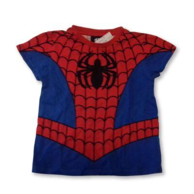 86-92-es piros-kék póló - Pókember, Spiderman- H&M