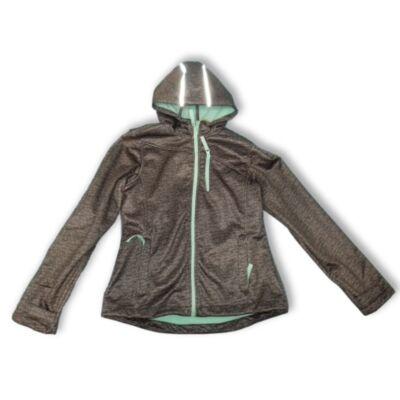 158-164-es szürke-zöld softshell kabát lánynak - Y.F.K - ÚJ