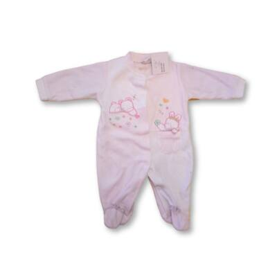 62-68-as rózsaszín-fehér plüss rugi