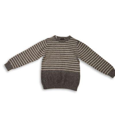 128-as szürke csíkos kötött pulóver - Next