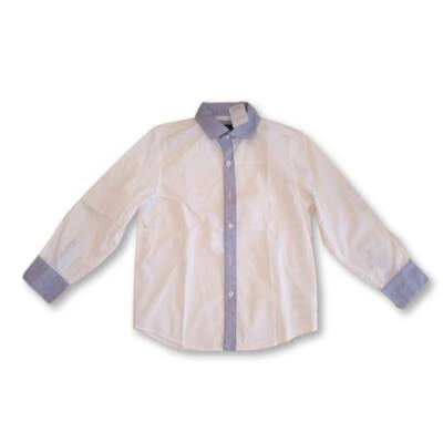 122-es fehér-kék hosszú ujjú ing - Next