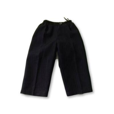 80-as sötétkék szövet hatású alkalmi nadrág - Mikka