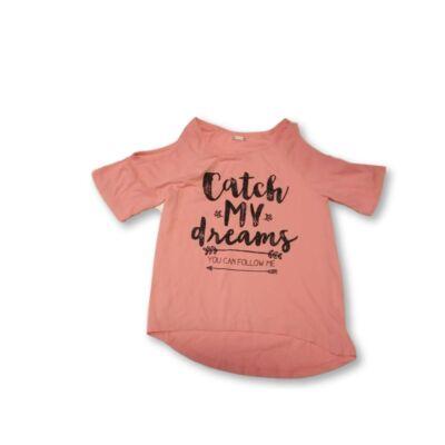 158-164-es rózsaszín feliratos póló - Pepco