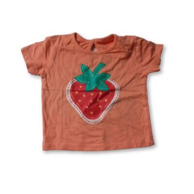86-92-es narancssárga epres póló