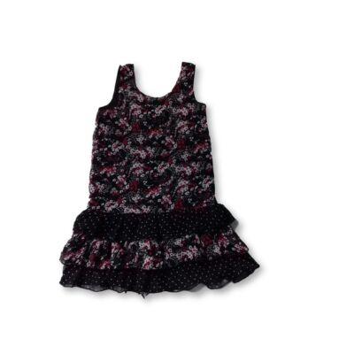 122-es fekete virágos lenge ruha - Girl2Girl