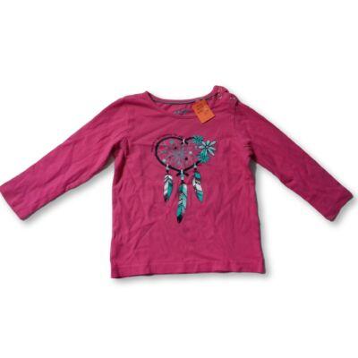 86-92-es pink álomfogós pamutfelső - Lupilu