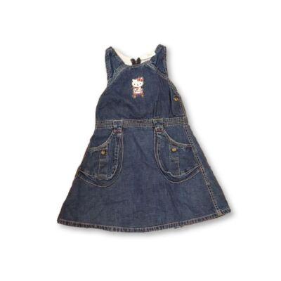 122-es kék farmerruha - Hello Kitty - C&A