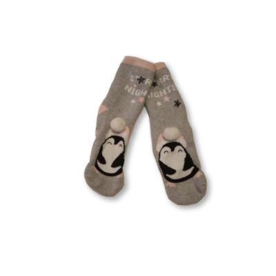 26-30-as szürke tappancsos lány zokni