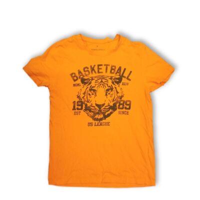 Férfi S-es narancssárga tigrises póló - C&A