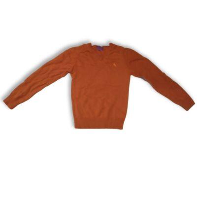 152-es narancssárga kötött fiú pulóver - H&M