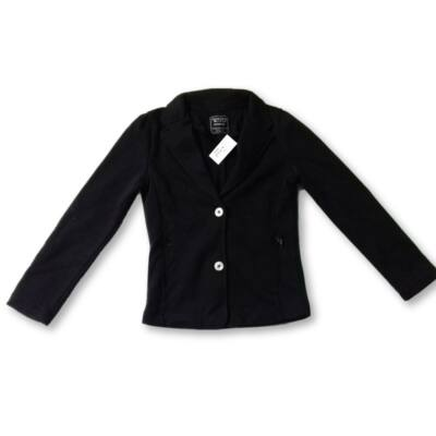 122-es fekete pamut kislány blézer - Terranova