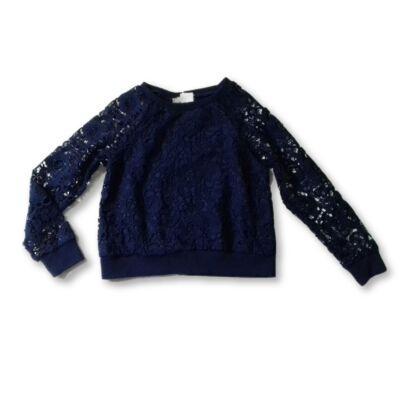 128-as kék csipkerátétes pulóver - Soprano
